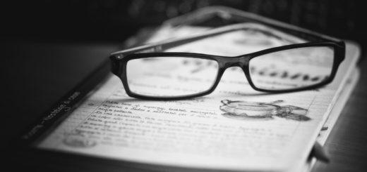 книга, очки, рабочий стол