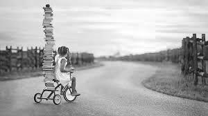 девочка и книги, детские книги
