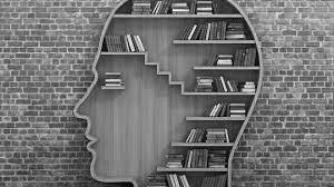 книжная полка в форме головы