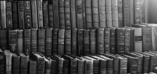 книжные полки, много книг