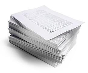 пачка бумаги, стопка документов
