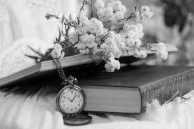 книга, часы, букет, красивое фото