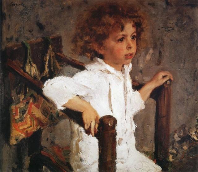 Мика Морозов, портрет Серова