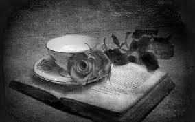 роза, кашка кофе и книга