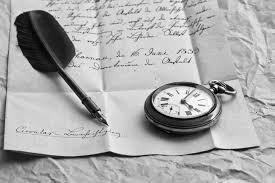 перо и листок бумаги, письмо