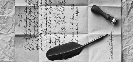 письмо, перо, бумага