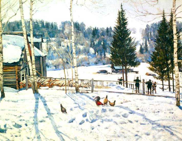 """Картина Юона """"Конец зимы. Полдень"""""""
