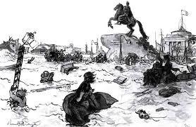 Медный всадник, иллюстрации к поэме Пушкина