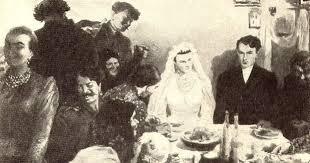 иллюстрация к роману Тихий Дон - свадьба Натальи и Григория