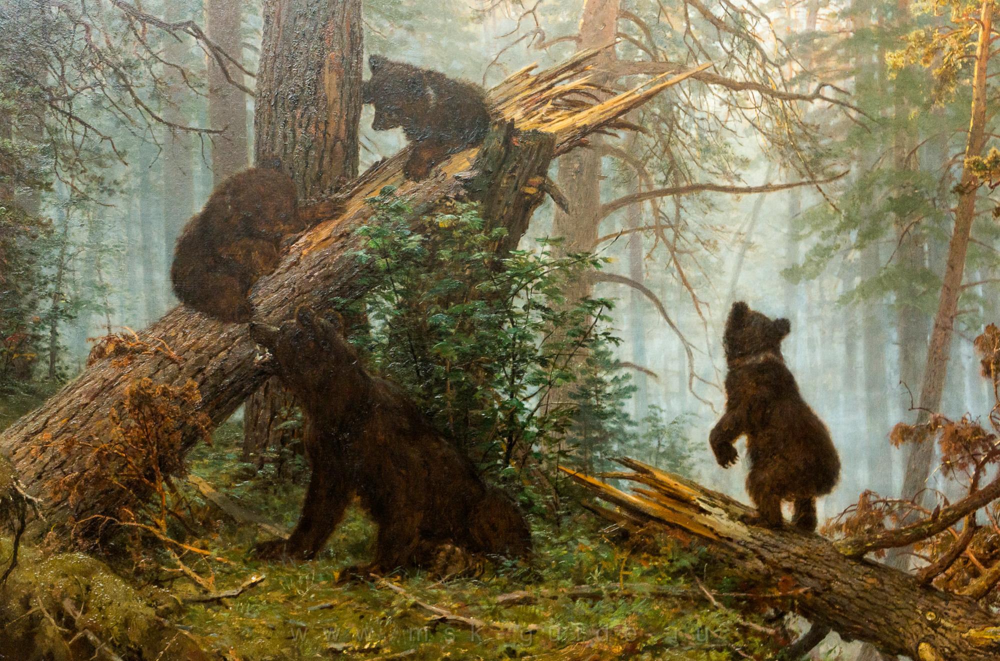Утро в сосновом лесу, Шишкин