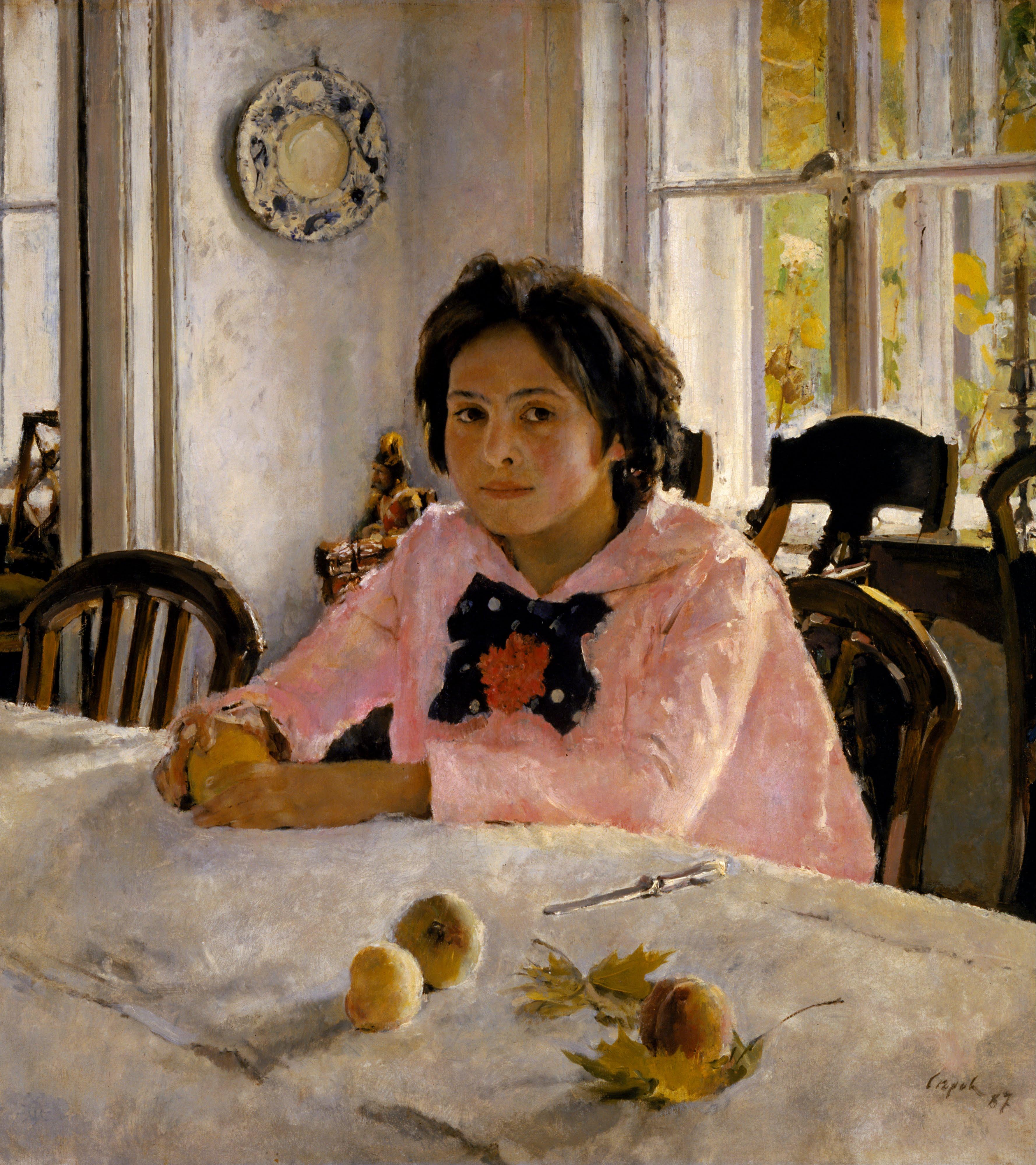 Девочка с персиками, Валентин Серов