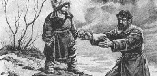 Григорий Мелехов с сыном