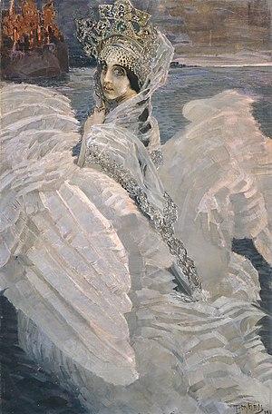 картина Врубеля Царевна-Лебедь