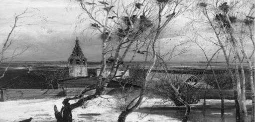 картина Саврасова Грачи прилетели