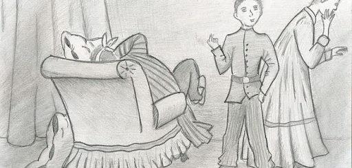иллюстрация к рассказу Лошадиная фамилия