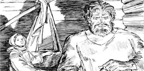 иллюстрация к рассказу Бирюк