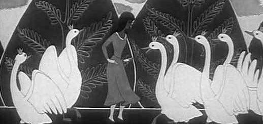 иллюстрация к сказке Дикие Лебеди