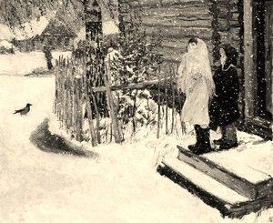 иллюстрация к картине Первый снег