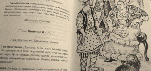 иллюстрация к пьесе Фонвизина Недоросль