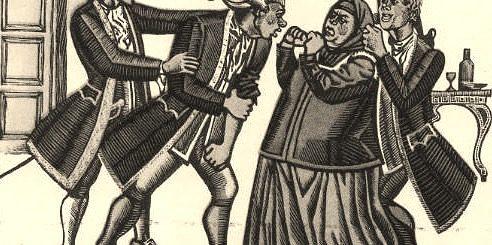 иллюстрация к пьесе Недоросль