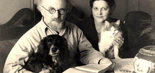 Михаил Пришвин с женой