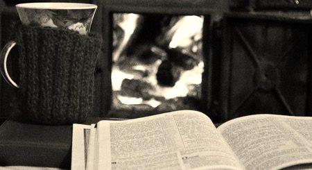 книга и камин